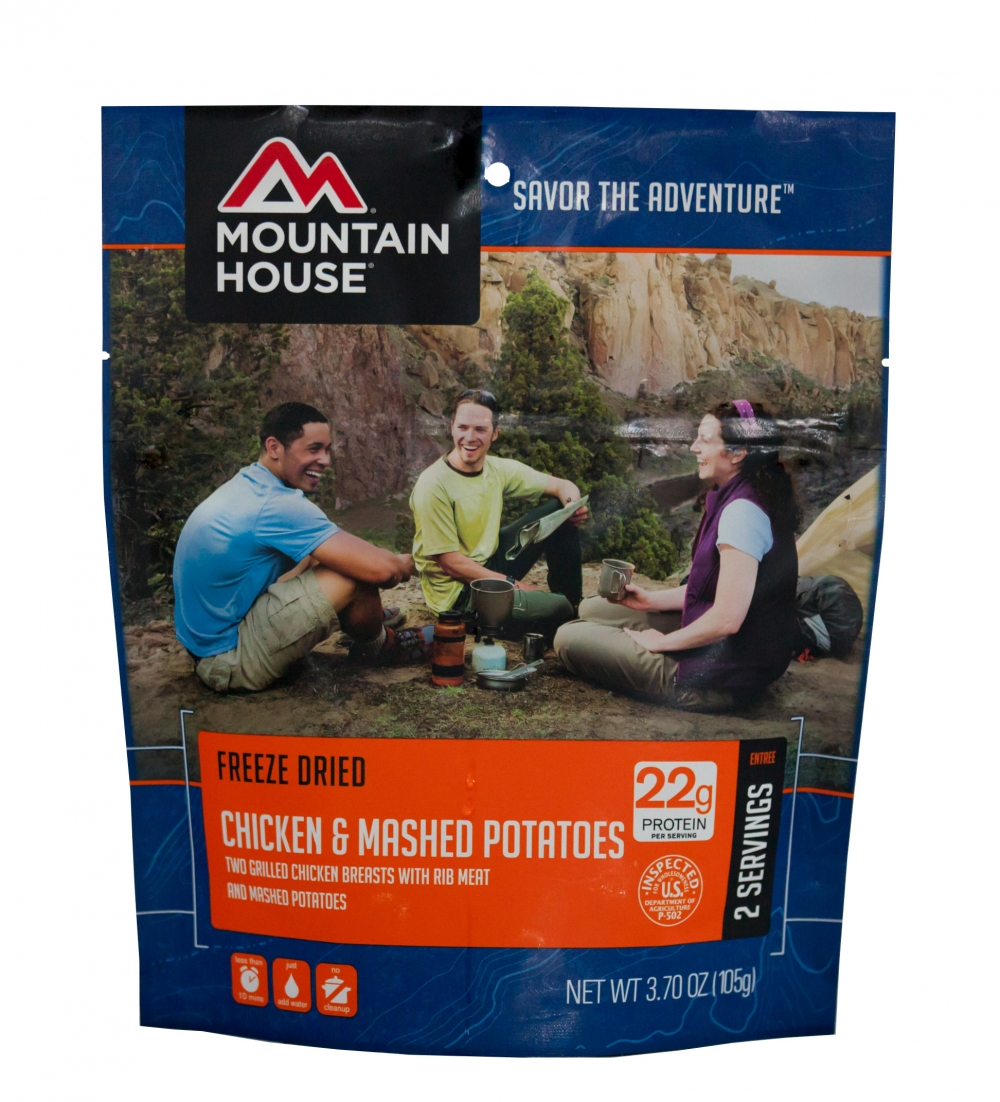 Mountain House (6 Pack) Chicken Breast & Mashed Potatoes Main Entree Pouch by Mountain House