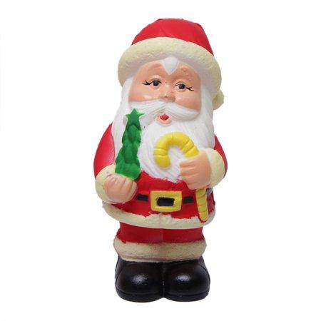Squishy Slow Rebound Christmas Element Black Leather Shoe Santa Claus Simulation Decompression Toy (Black Santas For Sale)