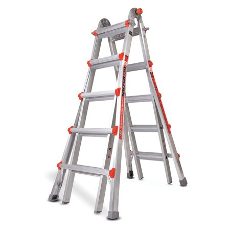22 ft. Aluminum Multipurpose Ladder, 375 lb. Load Capacity, 48.5 lb.Net Weight