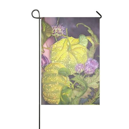 MYPOP Still Life with Pumpkin Fig and Artichoke Garden Flag Banner 12 x 18 inch