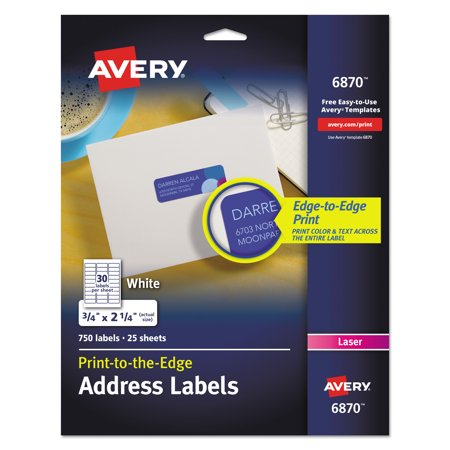 avery vibrant color printing return address labels 34 x 2 1
