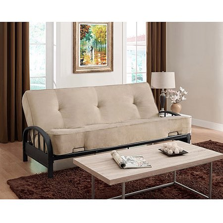 "Aiden Futon Frame with 8"" Innerspring Full Futon Mattress, Multiple Colors"