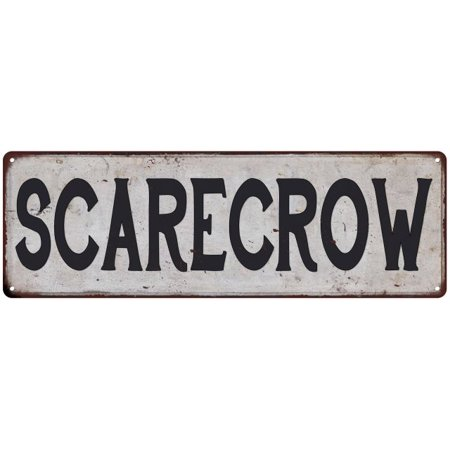 SCARECROW Vintage Look Rustic 6x18 Metal Sign Chic Retro 106180035065