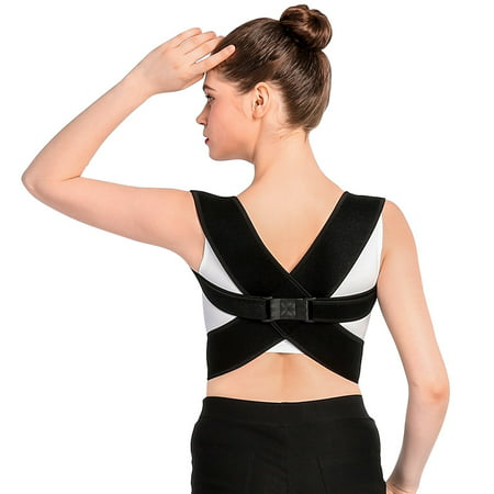 Posture Corrector Brace and Clavicle Support Straightener for Upper Back Shoulder Forward Head Neck Aid (Fits for 28