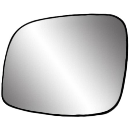 88241 - Fit System Driver Side Non-heated Mirror Glass w/ backing plate, Chrysler Town & Country 08-16, Grand Caravan 08-18, C/ V 12-15, 6 1/ 16