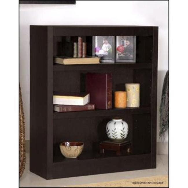 Concepts In Wood MI3036-E Single Wide Bookcase, Espresso Finish 3 Shelves