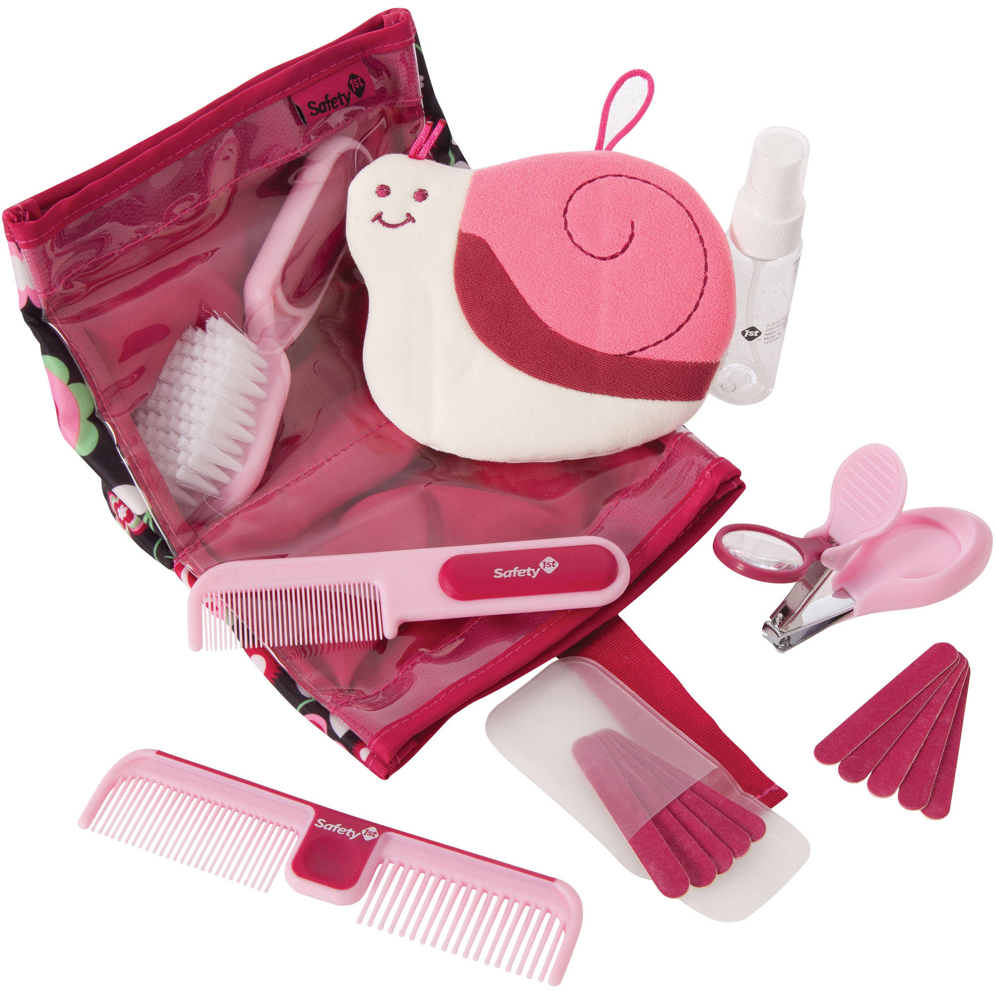 Safety 1st Complete Grooming Kit, Raspberry, 17 pc