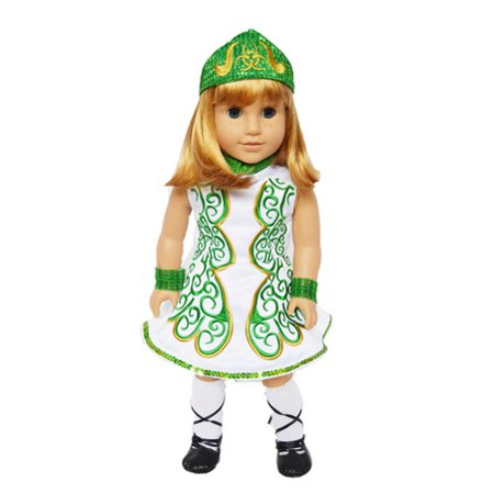 My Brittany's Green Irish Outfit for American Girl Dolls and My Life as Dolls- 18 Inch Doll Clothes