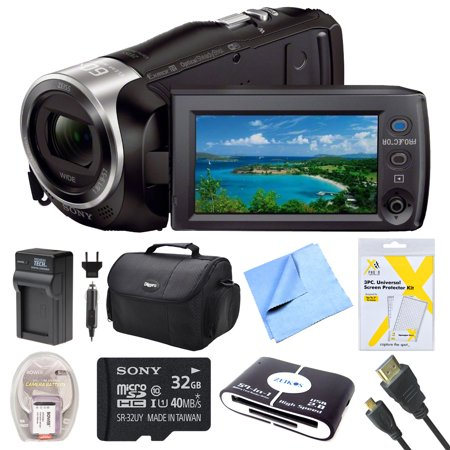 Sony HDR-PJ440 Full HD 60p Camcorder w/ Built-In Projector Deluxe Bundle