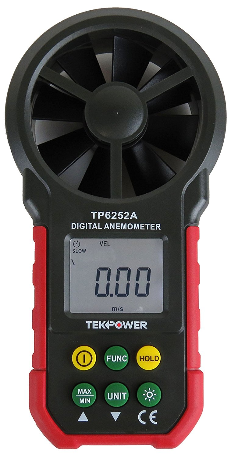 TekPower TP6252A Digital Anemometer Wind Speed Air Velocity Meter, Air Flow Meter by