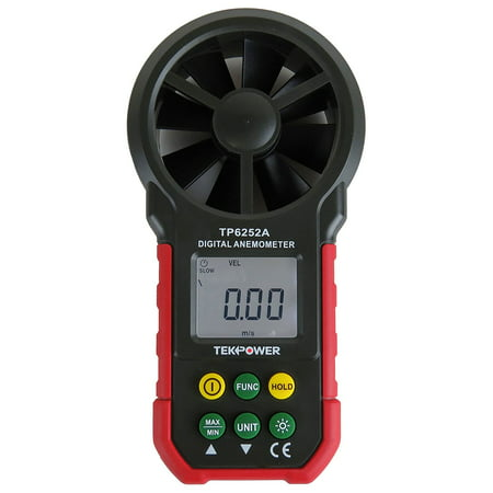 TekPower TP6252A Digital Anemometer Wind Speed Air Velocity Meter, Air Flow Meter (Wind Speed Meter)