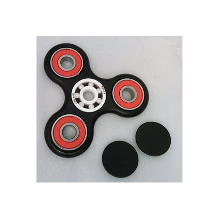 Fidget Hand Spinner Toy with Center Full Ceramic ZrO2 Bearing, 3 outer red