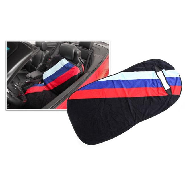 Bimmian SCTAAACYY Protective Seat Cover Towel For Any BMW Or MINI, Wide Side-Crossing Strip With Checkered Flag & Union