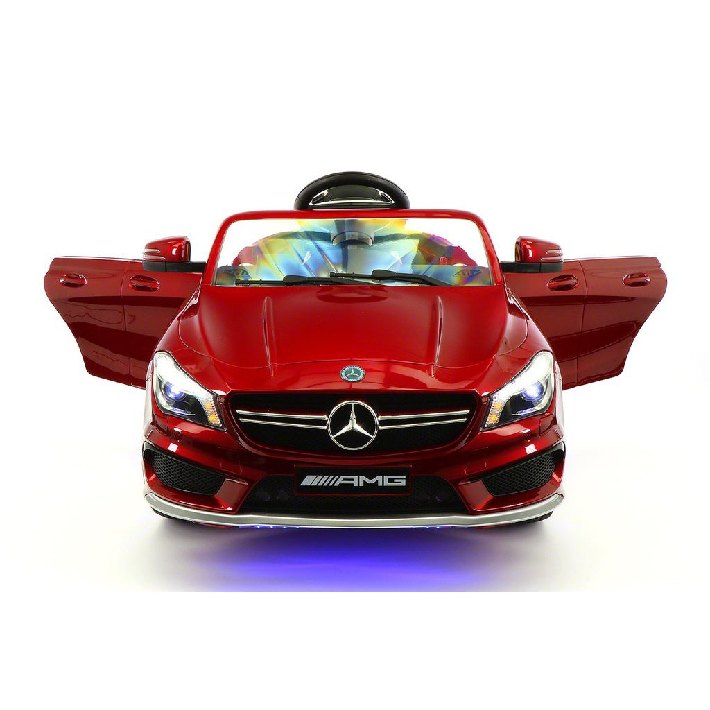 Licensed Mercedes CLA45 AMG 12V Electric Power Rabber Wheels Kids Ride On Vehicles Toys Cars For Boys And Girls With Remote Control CHERRY RED METALLIC