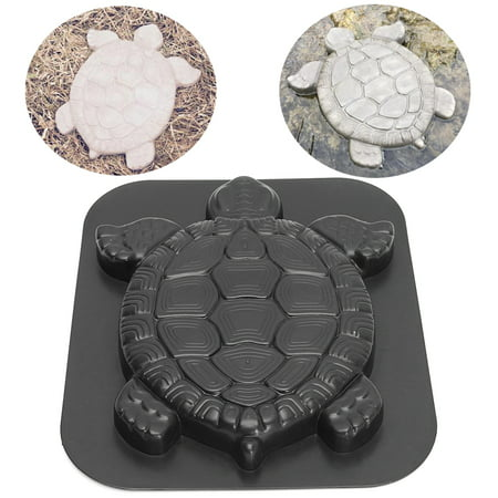 Durable Turtle Stepping Stone Mold Concrete Cement Mould Tortoise Shape Stone Mold Path Garden Decoration (Garden Stone Concrete)