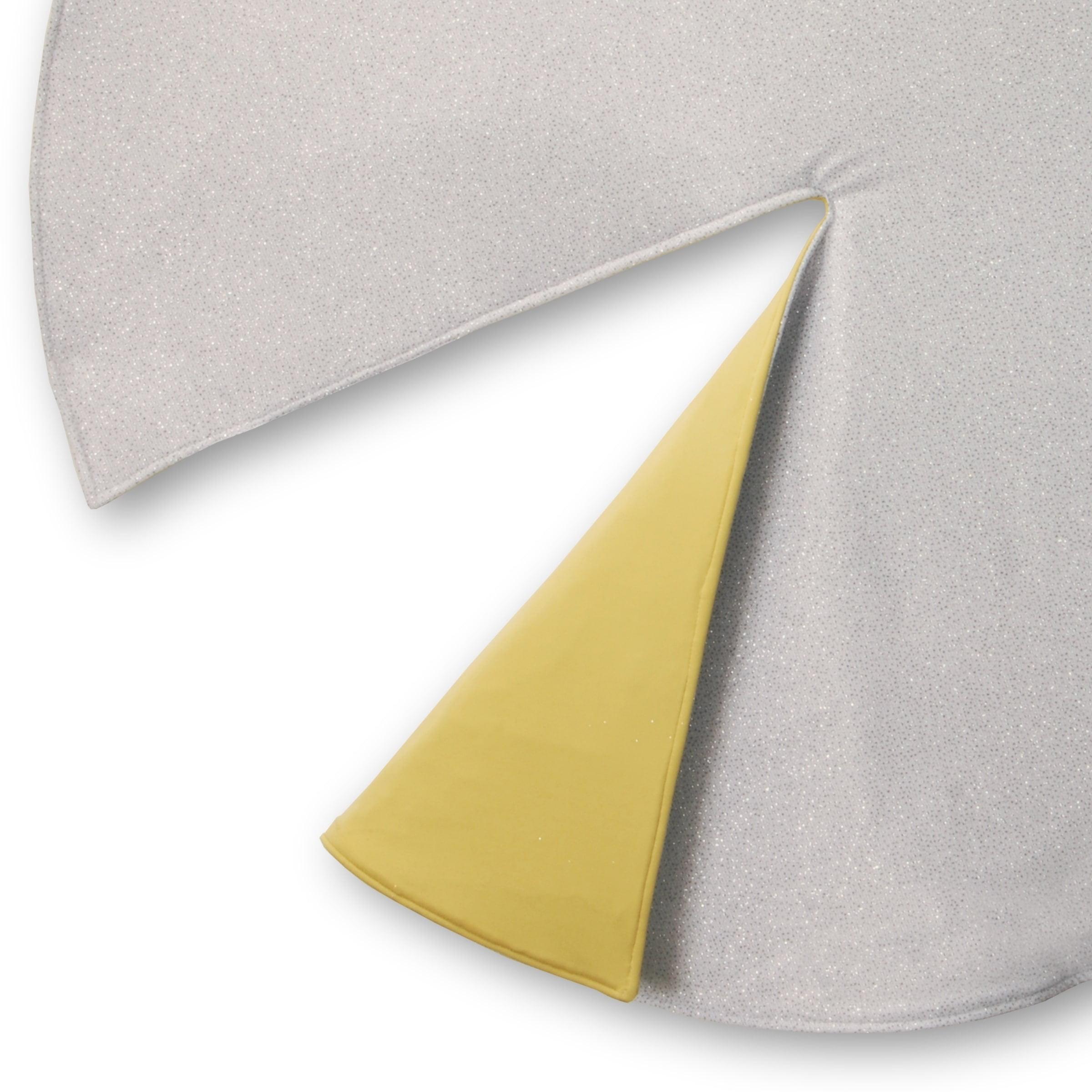 """54"""" Silver/Gold Designer Tree Skirt"""