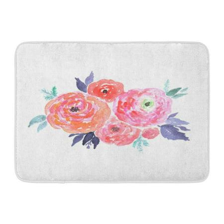 KDAGR Abstract Bright Watercolor Bouquet of Flowers Wedding Design Floral Clipart Beauty Doormat Floor Rug Bath Mat 23.6x15.7