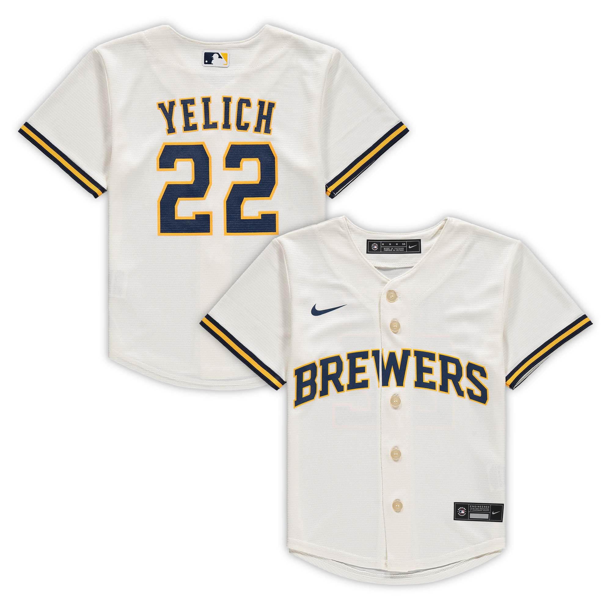 Christian Yelich Milwaukee Brewers Nike Preschool Home Replica Player Jersey - Cream - Walmart.com