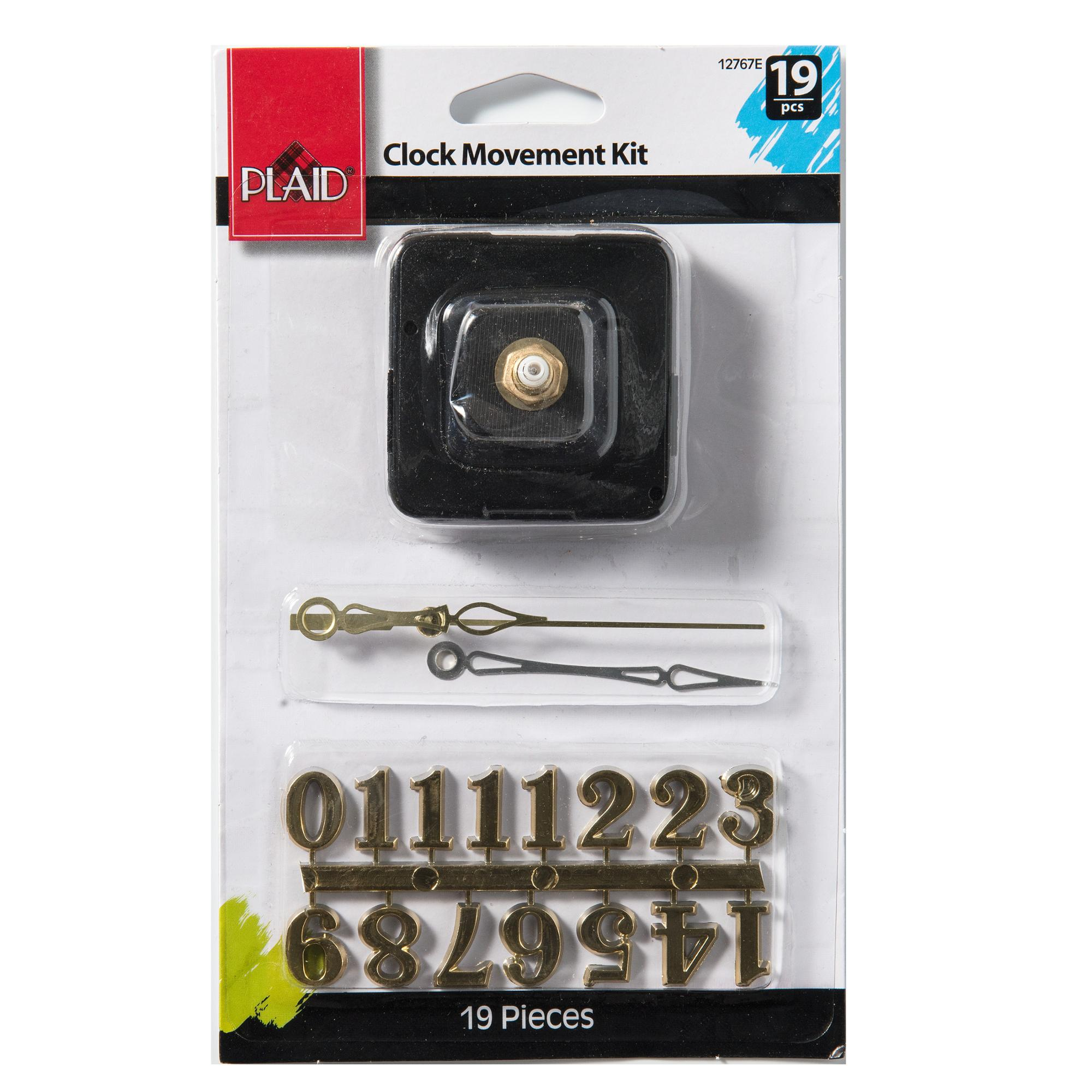 Plaid   Accessories, Clock Movement, Hands and Numbers Kit, 19 piece set