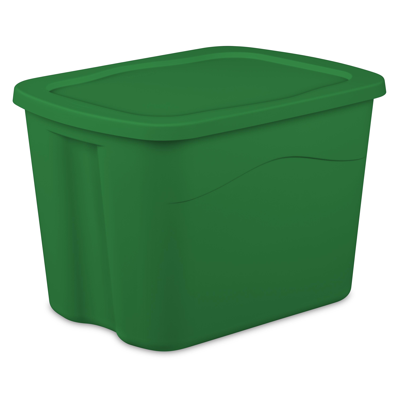 Sterilite Medium Tote -Elf Green, Case of 8