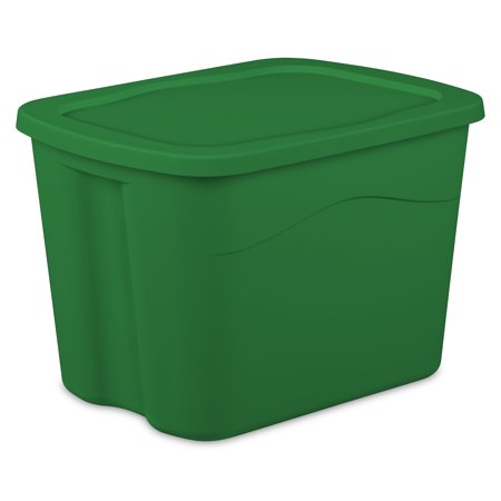 Sterilite Medium Tote -Elf Green, Case of 8