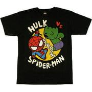 Marvel Toys Hulk vs Spiderman T Shirt Sheer