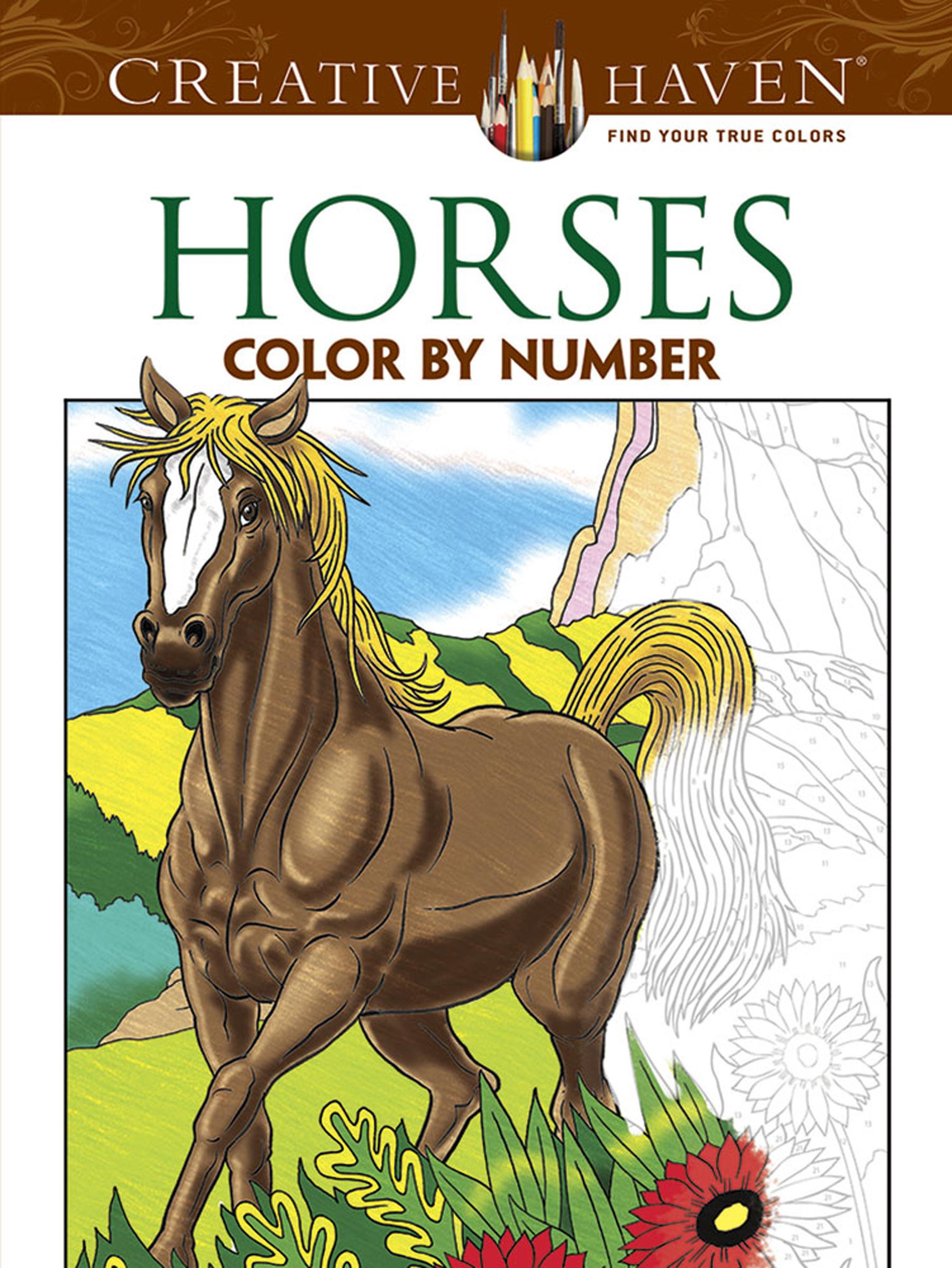 Creative Haven Coloring Books: Horses Color By Number Coloring Book  (Paperback) - Walmart.com - Walmart.com