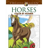 Creative Haven Coloring Books: Horses Color by Number Coloring Book (Paperback)