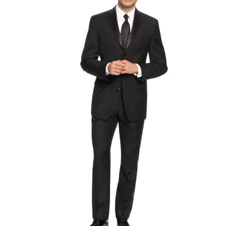 Mens Tiow-Button Wool Tuxedo Suit $650 44