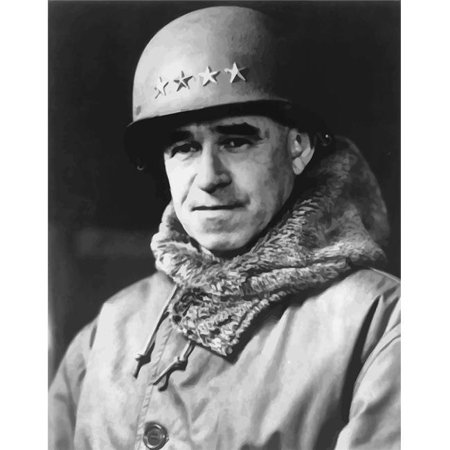 Digitally Restored Vector Portrait of Omar Bradley - Was Known During World War Two As The Soldiers General Due To His Devotion & Care for The Men Under His Command Poster Print, 12 x 16 - image 1 de 1