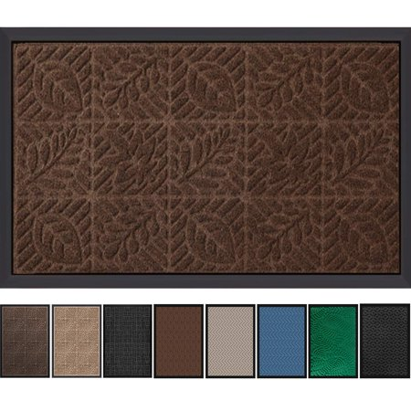 """Tayyakoushi Extra Durable Outside Shoe Mat Rubber Doormat for Front Door 30""""x 18"""" Outdoor Mats Entrance Waterproof Rugs Dirt Debris Mud Trapper Carpet for Patio Non Skid Doormat Brown"""