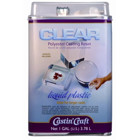 Environmental Technology - Castin'Craft Clear Polyester Casting Resin with Catalyst - 128 oz. Casting Resin with 1 oz. (Castin Craft Clear Casting Resin With Catalyst)
