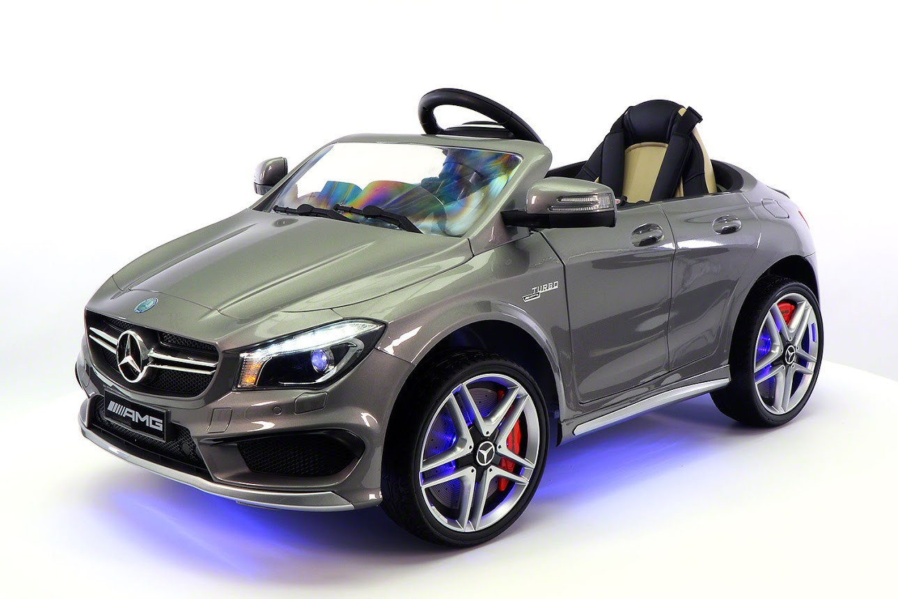 Mercedes CLA45 12V Kids Ride-On Car MP3 USB Player Battery Powered Wheels R C Parental Remote | Grey by