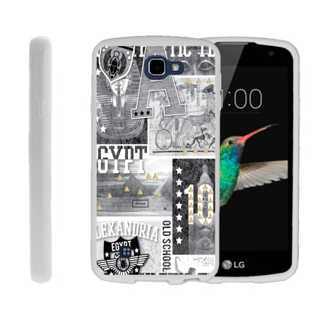 LG K4, LG Rebel LTE, LG Spree, LG Optimus Zone 3, Flexible Case [FLEX FORCE] Slim Durable TPU Sleek Bumper with Unique Designs - Egypt Pharaoh - Pharaoh Accessories