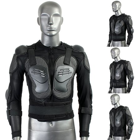 Motorcycle Full Body Armor Protective Jacket Motocross Racing Spine Chest Protecto Gear XXL Size Black US