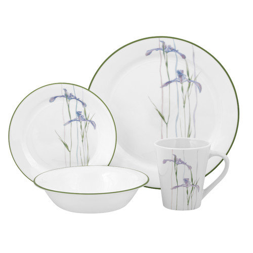 Corelle Impressions Shadow Iris 16 Piece Dinnerware Set