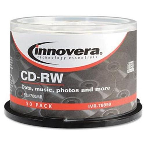 Innovera Cd Rewritable Media - Cd-rw - 12x - 700 Mb - 50 Pack Spindle - 120mm1.33 Hour Maximum Recording Time (78850)