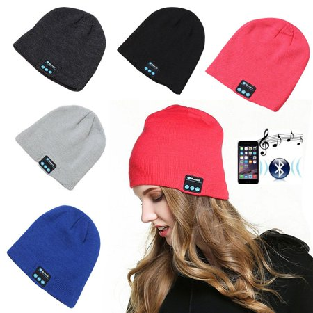 Wireless Bluetooth Beanie Music Smart Hat Cap Warm Beanie With Headphone Earphone Headset Ear Warmers Music Beanie - Black