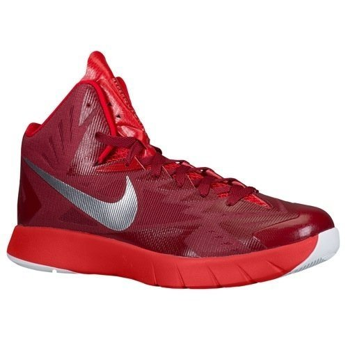 Nike Men's Lunar Hyperquickness TB Basketball Shoes Red/White Color Size 10