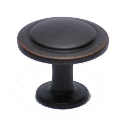"Hamilton Bowes Oil Rubbed Bronze Cabinet Hardware 1-1/4"" Round Mushroom Modern Basic Knob - 1.25"" Diameter – 1"" Tall Modern Traditional"