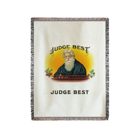 Judge Best Brand Cigar Box Label (60x80 Woven Chenille Yarn (Best Opus X Cigar)