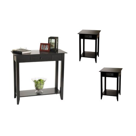 3 piece living room table set with hall table and set of - Three piece living room table set ...