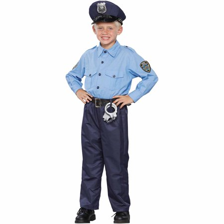 Deluxe Policeman Child Halloween - Police Man Costume