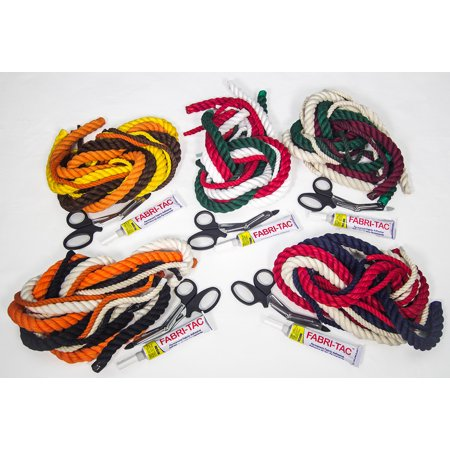 FMS Cotton Rope Craft Kits with Fabric Glue, Scissors and a Variety of Colored Craft Rope
