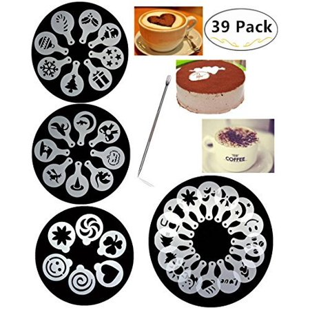 38 Coffee Decorating Stencils Magnolora Art Barista Template For All Kinds Of Mousse