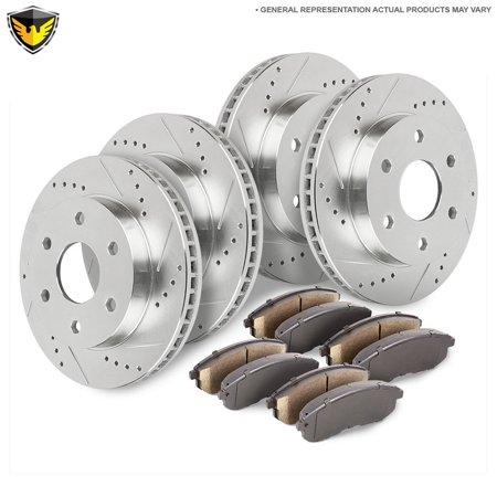 Front Rear Brake Pads And Rotors Kit For Chevy Silverado Suburban GMC (Best Brake Pads For Chevy Silverado)