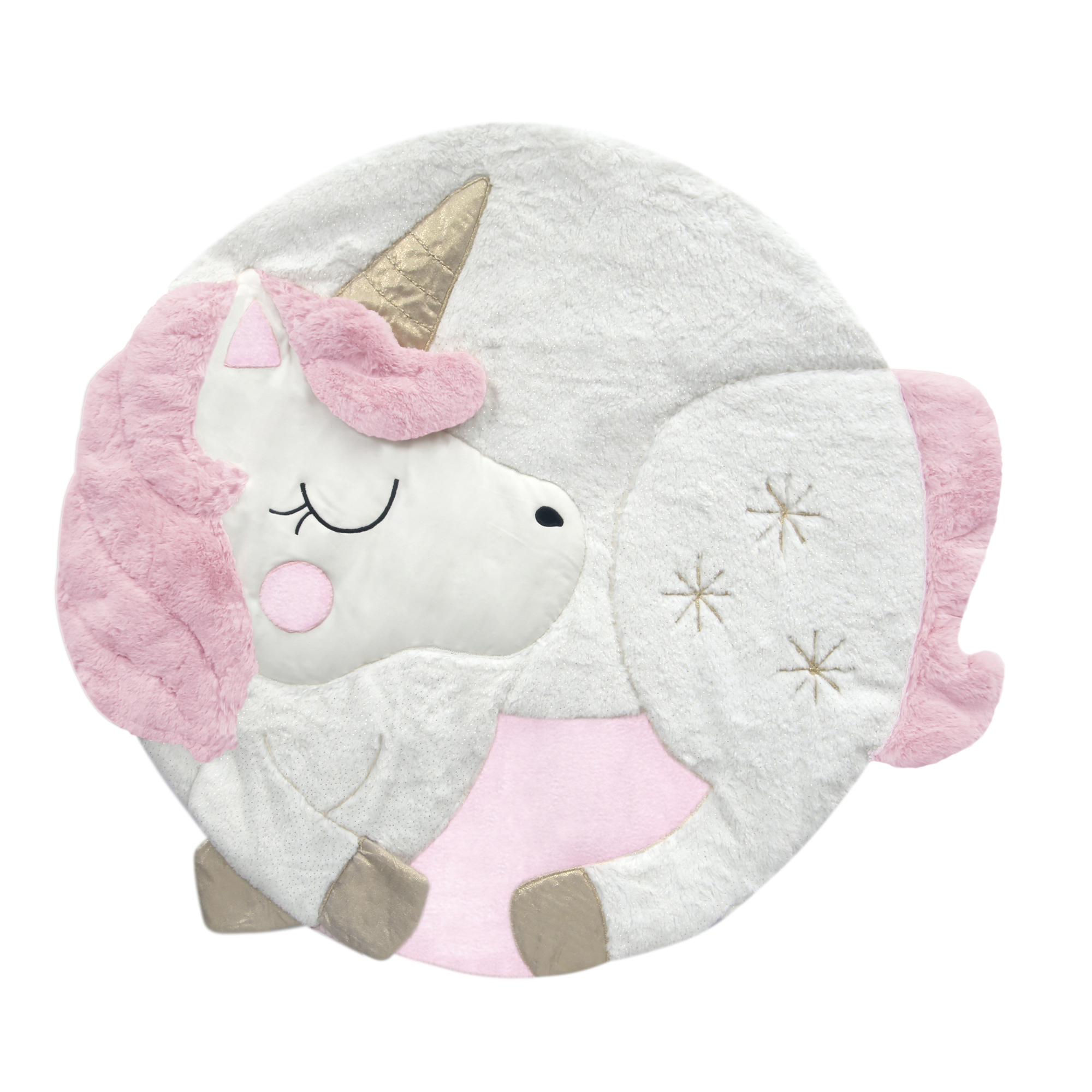 Lambs & Ivy Unicorn White/Pink Interactive Baby Play Mat