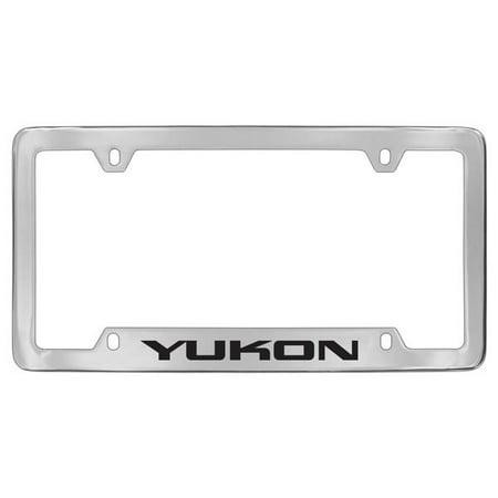 Gmc Yukon Chrome Plated Metal Bottom Engraved License Plate Frame Holder