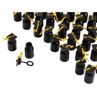 Party Bubble Favors - 48-Pack Graduation Bubbles Bottles, Play Bubble Wand Party Supplies, Black Graduation Cap Design, 0.6-Ounce