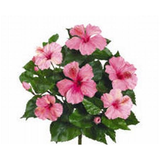 FBH883-PK 15 inch Pink Hibiscus Bush X6- Case of 12